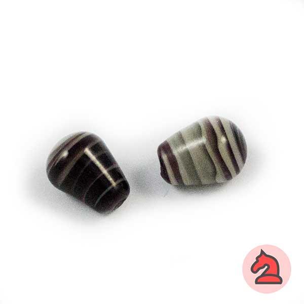 Tapón Cristal de murano 12 mm. Negro - Bolsa de 10 unidades | Agujero de 3 mm