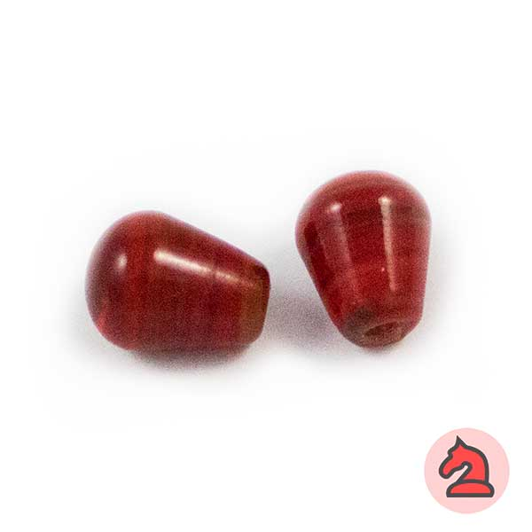 Tapón Cristal de murano 12 mm. Rojo - Bolsa de 10 unidades | Agujero de 3 mm