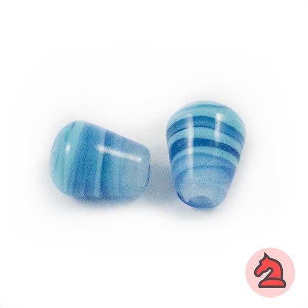 Tapón Cristal de murano 12 mm. Turquesa - Bolsa de 10 unidades | Agujero de 3 mm