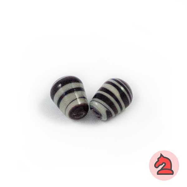 Mini-Tapón Cristal de murano 8 mm. Negro - Bolsa de 10 unidades | Agujero de 2 mm