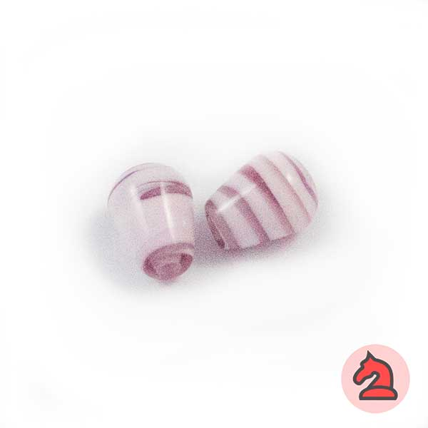 Mini-Tapón Cristal de murano 8 mm. Morado - Bolsa de 10 unidades | Agujero de 2 mm