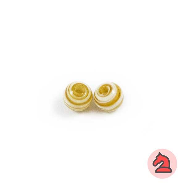 Mini-Tapón-bola cristal de murano 8 mm. Marfil - Bolsa de 10 unidades | Agujero de 2 mm