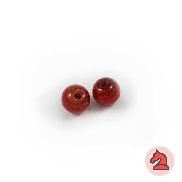 Mini-Tapón-bola cristal de murano 8 mm. Rojo - Bolsa de 10 unidades | Agujero de 2 mm