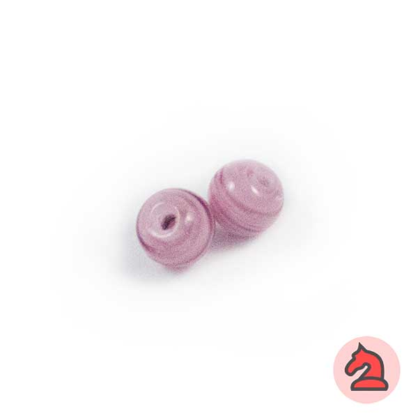Mini-Tapón-bola cristal de murano 8 mm. Morado - Bolsa de 10 unidades | Agujero de 2 mm