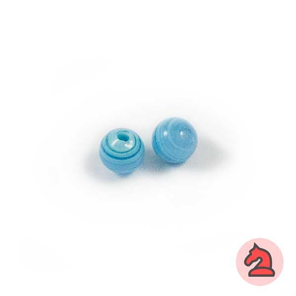 Mini-Tapón-bola cristal de murano 8 mm. Turquesa - Bolsa de 10 unidades | Agujero de 2 mm