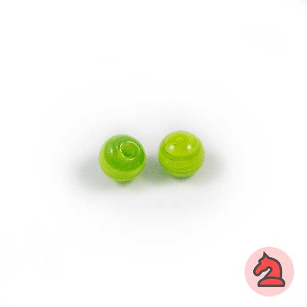 Mini-Tapón-bola cristal de murano 8 mm. Pistacho - Bolsa de 10 unidades | Agujero de 2 mm