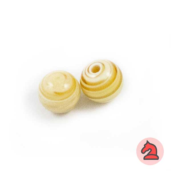 Tapón-bola cristal de murano 10 mm. Marfil - Bolsa de 10 unidades | Agujero de 2 mm