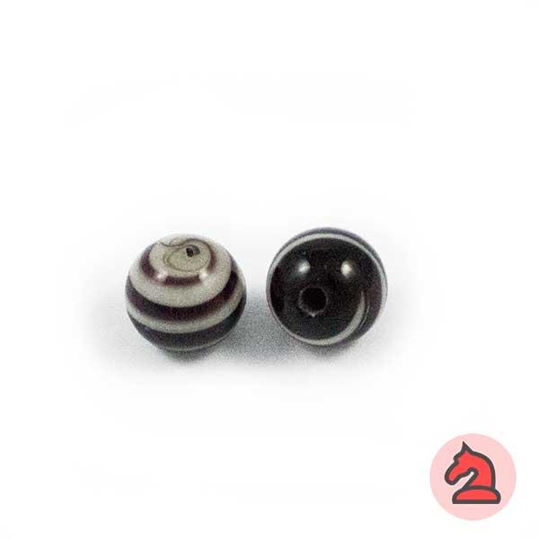 Tapón-bola cristal de murano 10 mm. Negro - Bolsa de 10 unidades | Agujero de 2 mm
