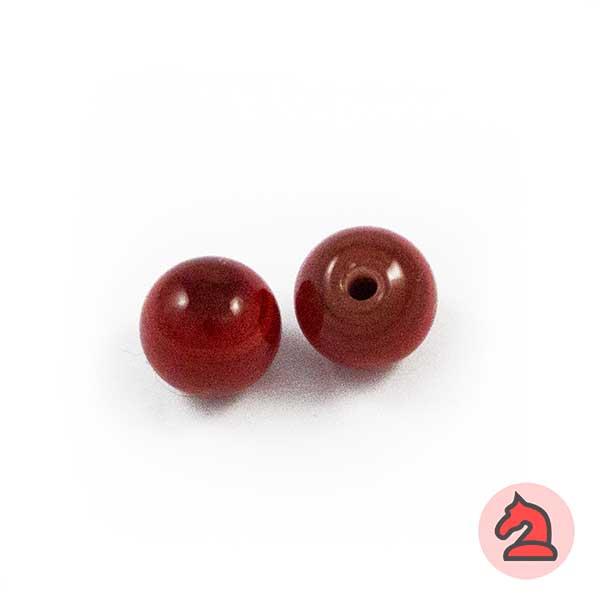 Tapón-bola cristal de murano 10 mm. Rojo - Bolsa de 10 unidades | Agujero de 2 mm