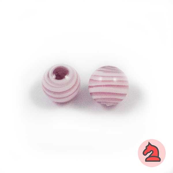 Tapón-bola cristal de murano 10 mm. Morado - Bolsa de 10 unidades | Agujero de 2 mm