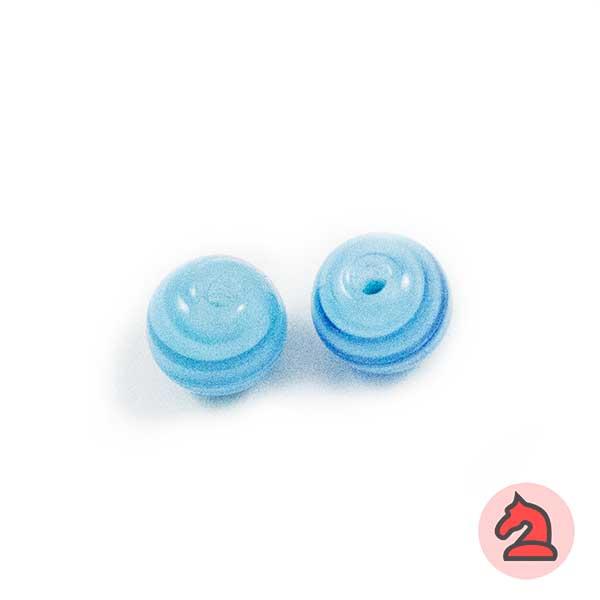 Tapón-bola cristal de murano 10 mm. Turquesa - Bolsa de 10 unidades | Agujero de 2 mm