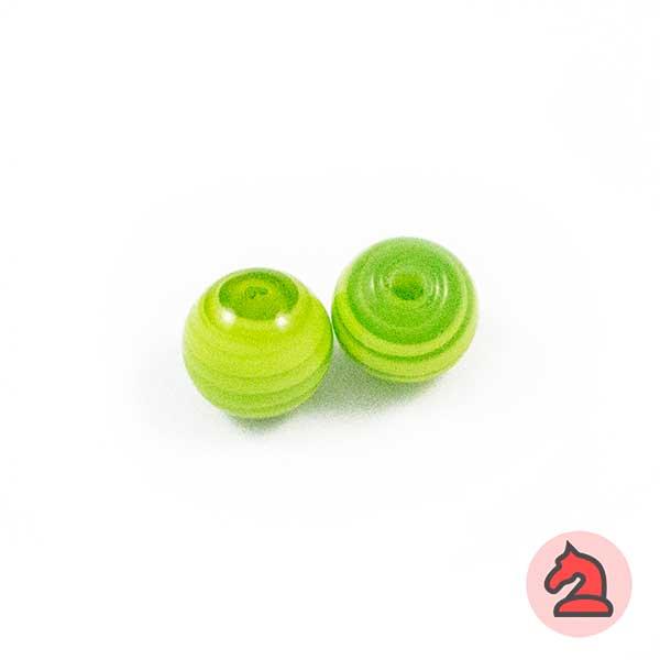 Tapón-bola cristal de murano 10 mm. Pistacho - Bolsa de 10 unidades | Agujero de 2 mm