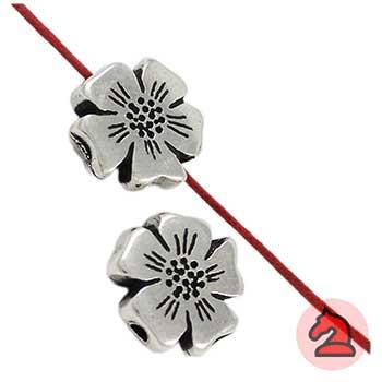 Entrepieza flor 17mm. Taladro 2,5mm - Paquete de 30 unidades