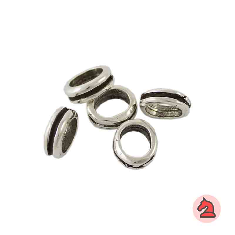 Pasador Para Cuero Regaliz - Paquete de 30 unidades Medida apróx: 13X11 mm  Para cordón de 10X7 mm