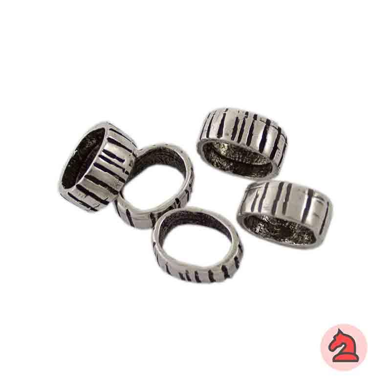 Pasador Para Cuero Regaliz - Paquete de 30 unidades Tamaño apróx: 12X10 mm, para cordón de 10X7 mm