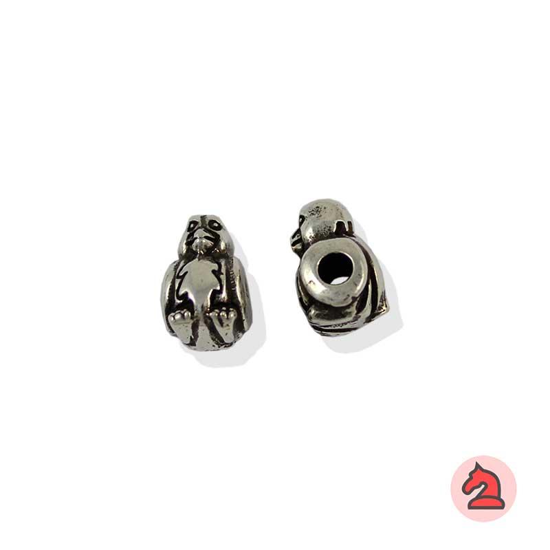 Charm loro para enfilar - Bolsa de 20udsTamaño aproximado 13X8X8 mm, agujero para cordón de 3 mm