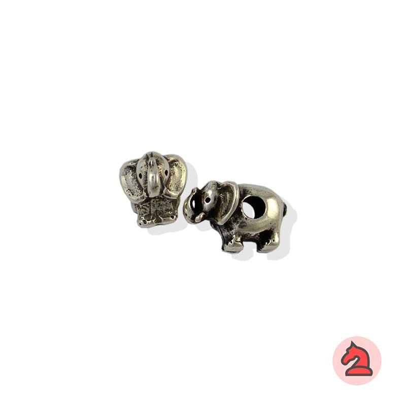 Charm elefante para enfilar - Bolsa de 20udsTamaño aproximado 15X10X8 mm, agujero para cordón de 3 mm