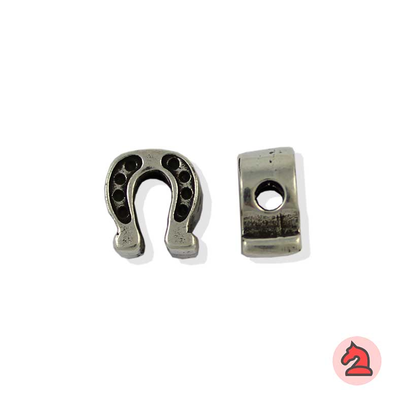 Charm herradura de la suerte para enfilar - Bolsa de 20udsTamaño aproximado 10X10X6 mm, agujero para cordón de 3 mm