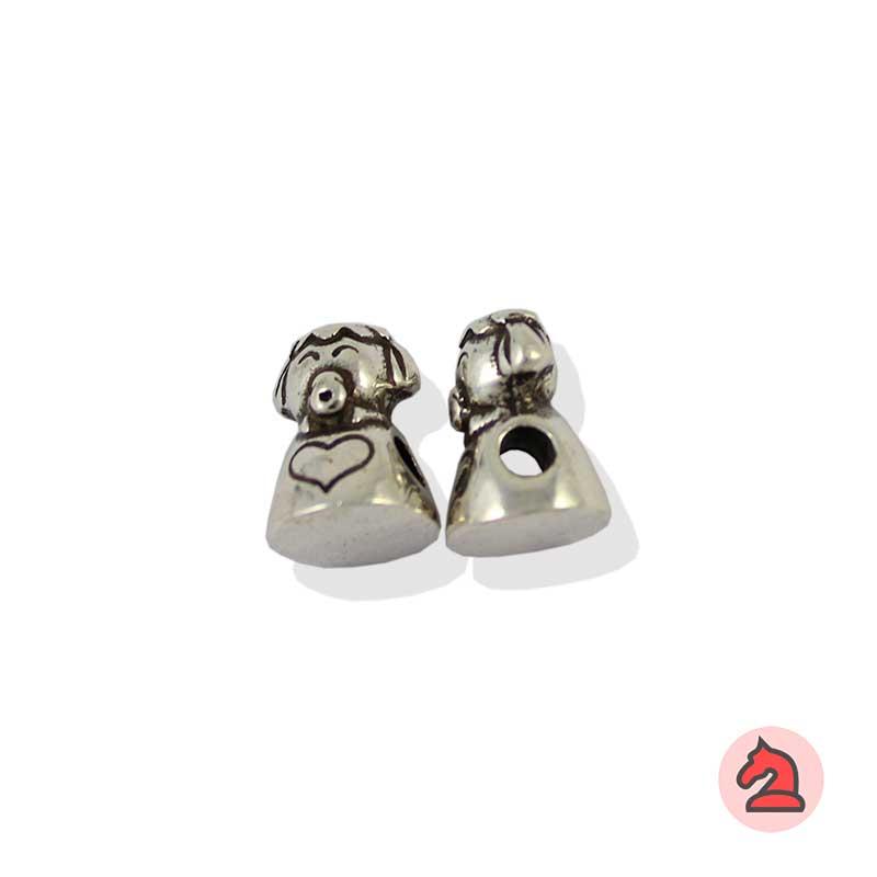 Charm bebé niña para enfilar - Bolsa de 20udsTamaño aproximado 13X10 mm, agujero para cordón de 3 mm