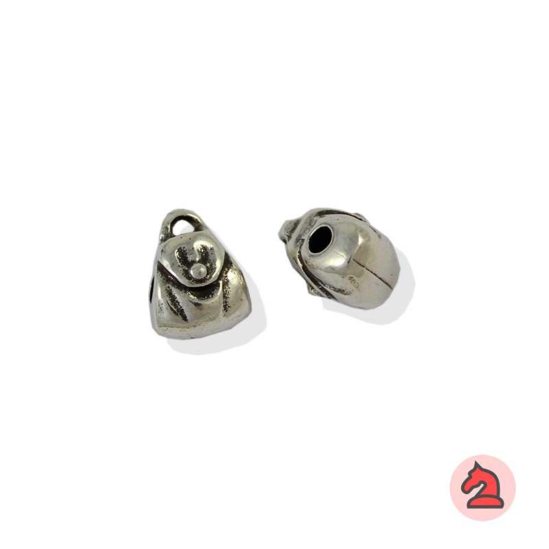 Charm bolso para enfila - Bolsa de 20udsTamaño aproximado 14X11X9 mm, agujero para cordón de 3 mm
