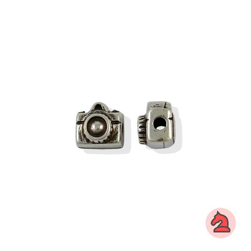 Charm cámara fotográfica - Bolsa de 20udsTamaño aproximado 12X12X10 mm, agujero para cordón de 3 mm