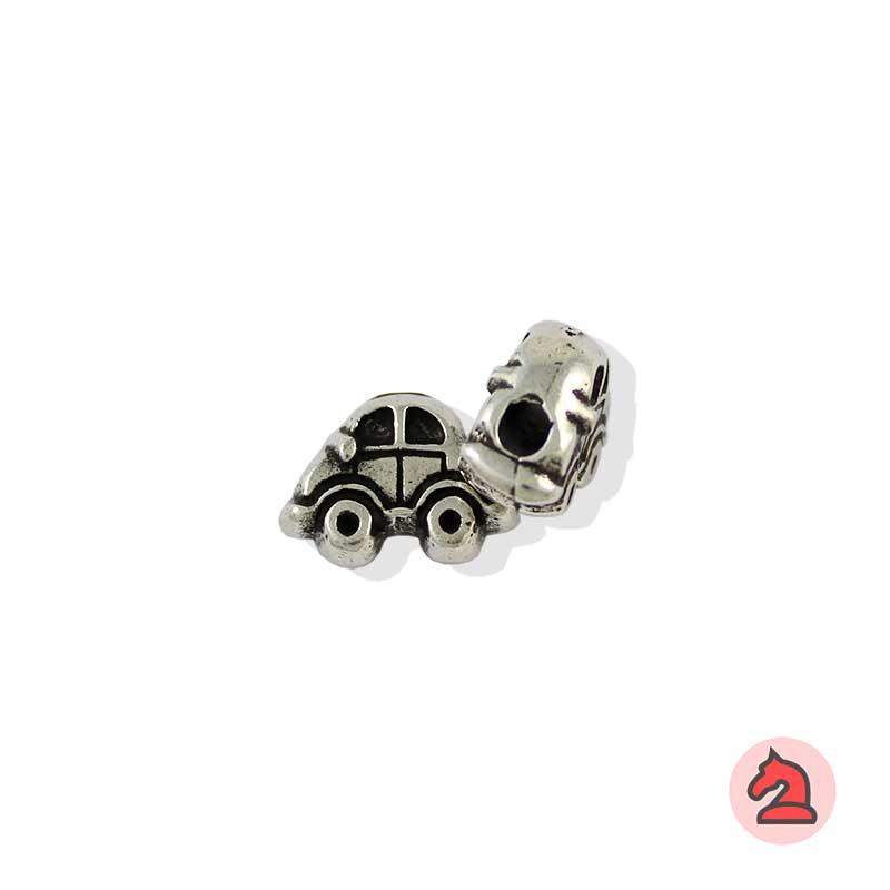 Charm coche para enfilar - Bolsa de 20udsTamaño aproximado 13X17X8, agujero para cordón de 2,5 mm