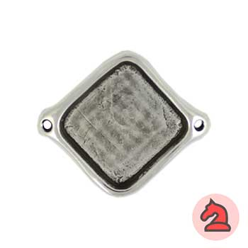 Entrepieza cuadrada 36 mm. agujeros de 2 mm