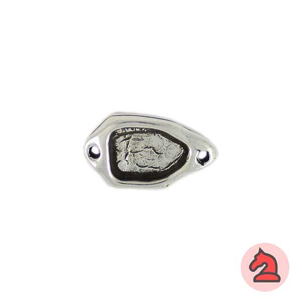 Entrepieza ovalada 21X12 mm. Baño plata - Paquete de 20 unidades