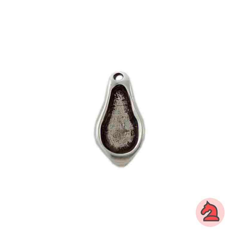 Colgante gota de agua - Paquete de 20 unidadesTamaño aproximado 27X15 mm, agujero para cordón de 2 mm