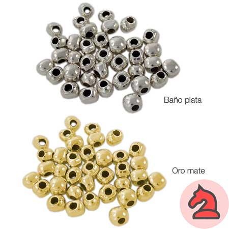 Surtido de 100 pepitas irregulares - Venta en bolsa de 100 uds Medidas de 7 - 6 - 5 milímetros Para cordón de 3mm