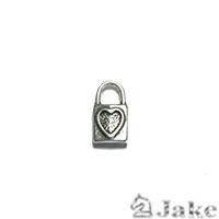 Colgante Candado Corazón 16X9 mm - Paquete de 30 unidades