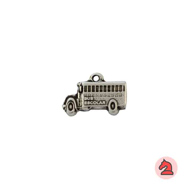 Charm Bus escolar - Paquete de 30 unidadesTamaño aproximado 18X8 mm, anilla 1.5 mm