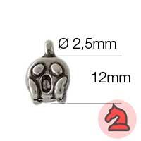 Charms Emoticono Grito - Paquete de 20 unidades Tamaño aproximado 12mm, anilla 2.5mm