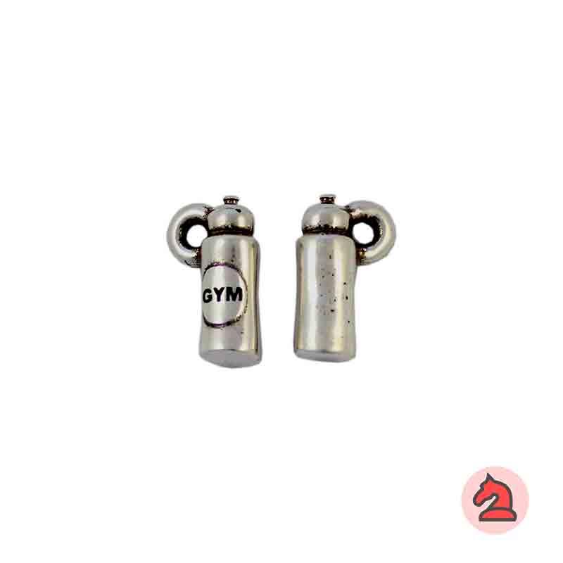 Charm botella gym - Venta en bolsa de 30 unidadesTamaño 15 mm, Anilla 2 mm