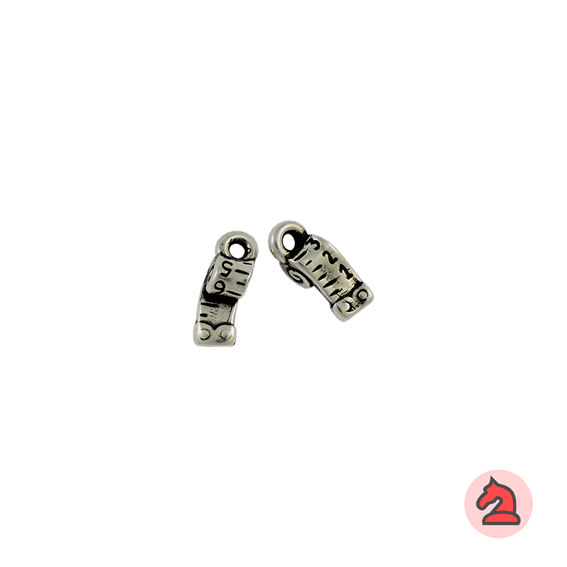 Charm cinta métrica - Bolsa de 30 uds Tamaño aproximado 11x6 mm, anilla de 2 mm