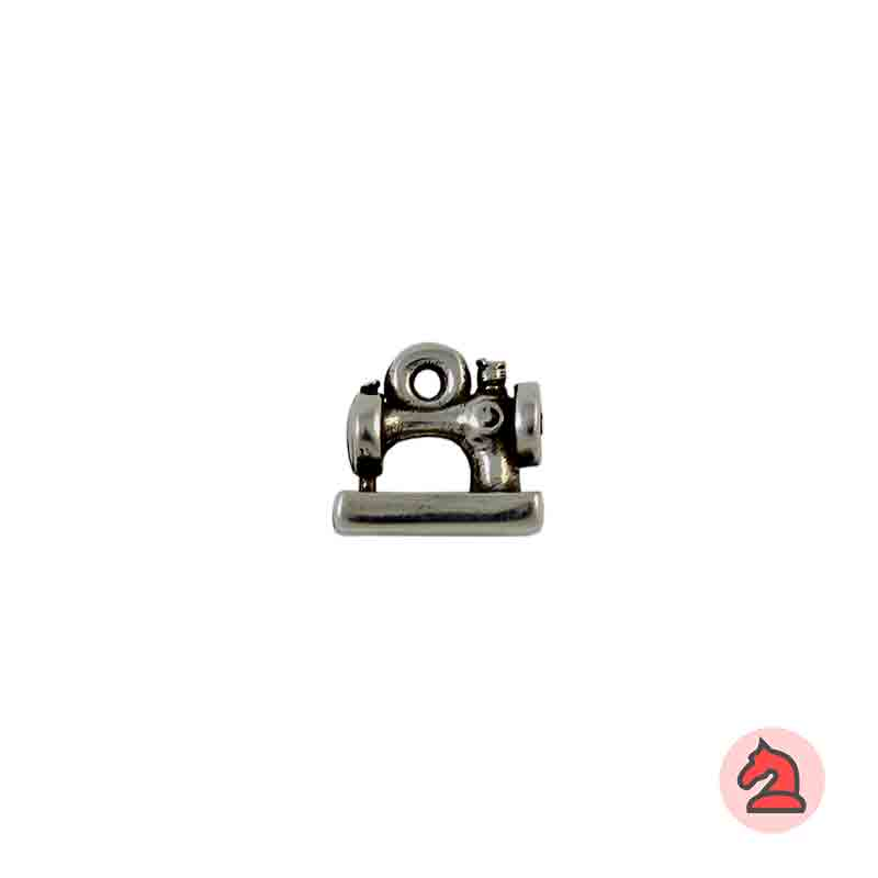 Charm máquina de coser - Bolsa de 30 uds Tamaño aproximado 14X9 mm, anilla de 2 mm