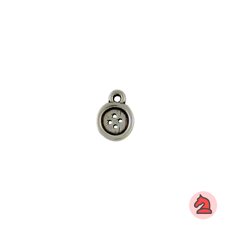 Charm botón - Bolsa de 30 uds Tamaño aproximado 12 mm, anilla de 2 mm