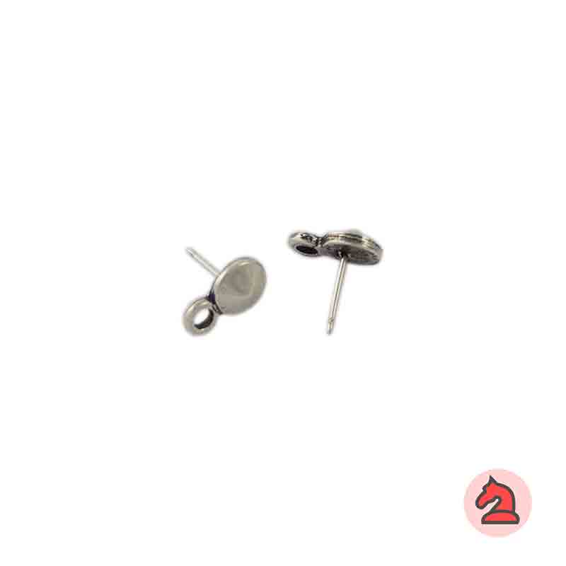 Pendiente redondo cabeza cono 8 mm - Paquete de 30 unidadesLos pendientes en baño oro y solo en baño oro llevarán sus traseras
