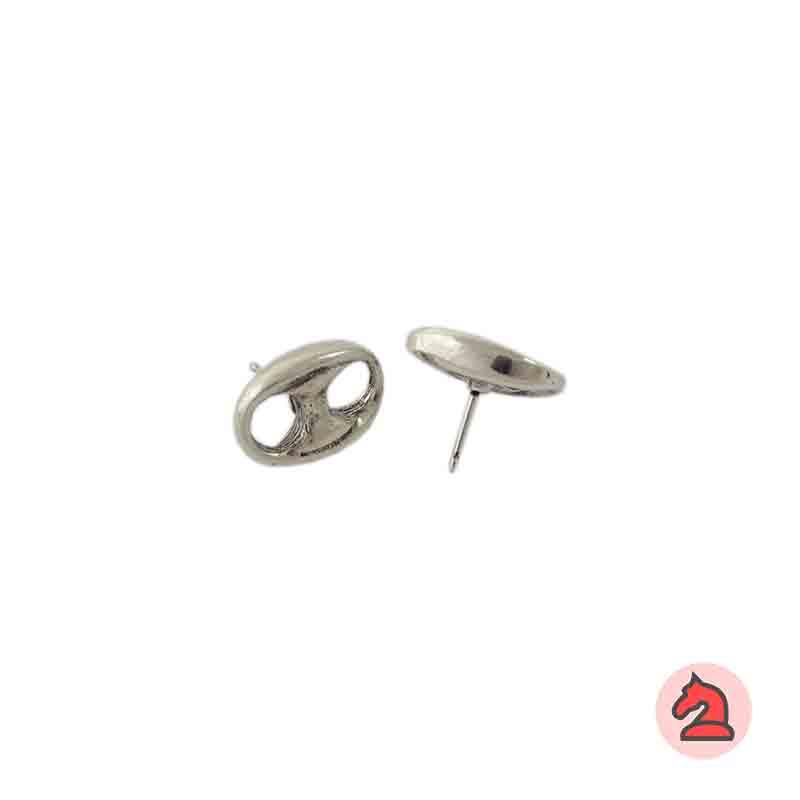 Pendiente calabrote 16X12 mm - Paquete de 30 unidadesLos pendientes en baño oro y solo en baño oro llevarán sus traseras