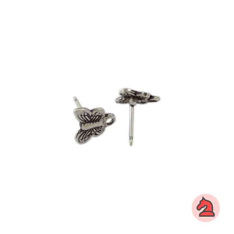 Pendiente mariposa 10 mm - Paquete de 30 unidadesLos pendientes en baño oro y solo en baño oro llevarán sus traseras