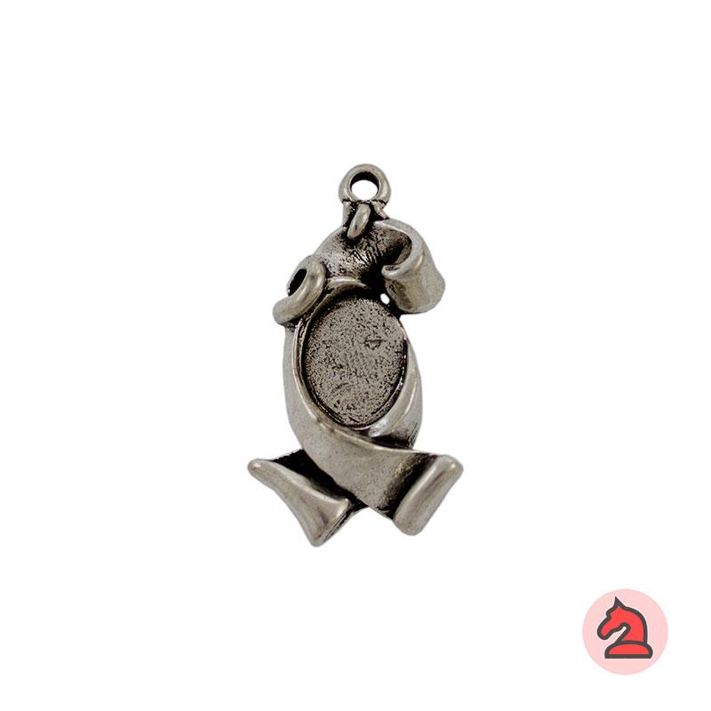 Pendiente lazo 33X14 mm - Paquete de 20 unidades Tamaño aproximado 33X14 mm Anilla para cordón de 2,5 mm Para decorar con resina de 14X10 mm