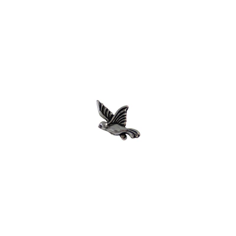 Pendiente colibrí - Bolsa de 20 uds Tamaño aproximado 13X9 mm, Anilla 1 mmLos pendientes en baño oro y solo en baño oro llevarán sus traseras