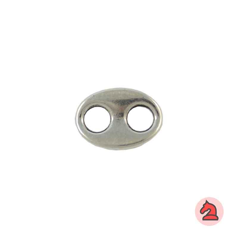 Calabrote liso - Paquete de 30 unidades Tamaño aproximado 22X16 mm, agujeros 6mm, grosor de 3 mm