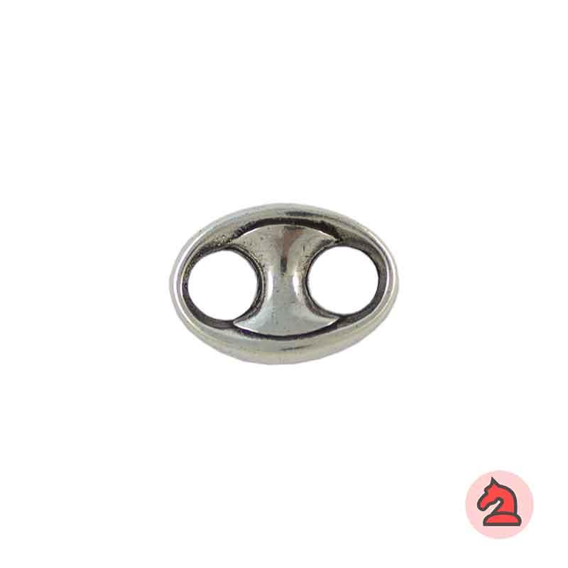 Calabrote liso - Paquete de 30 unidades Tamaño aproximado 22X16 mm, agujeros 6 mm, grosor de 6mm