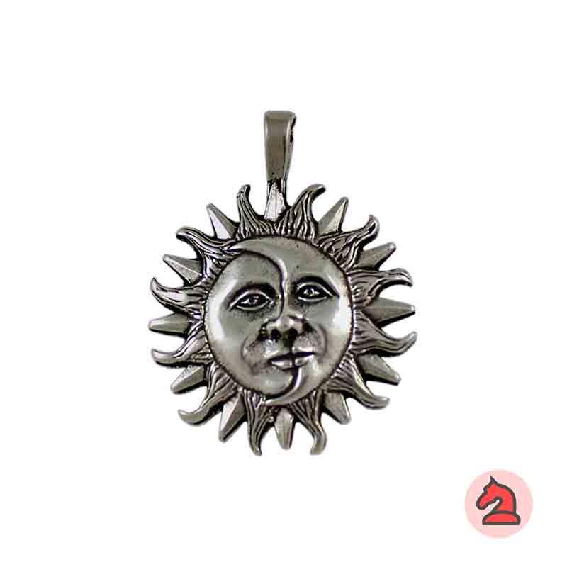 Colgante Sol y Luna - Paquete de 10 unidadesTamaño aproximado 34 mm, anilla 3 mm