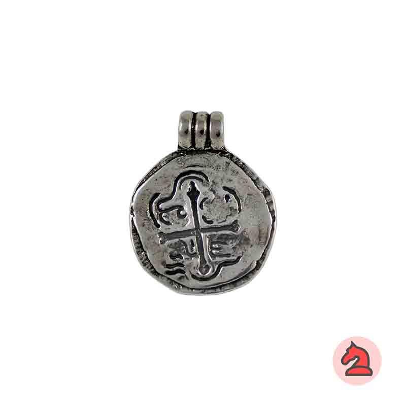 Colgante moneda Sto Domingo - Paquete de 10 unidades Tamaño aproximado 28 mm, anilla 5 mm