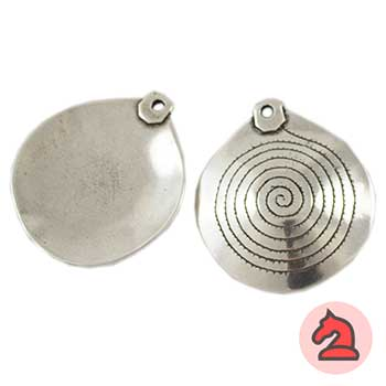 Colgante Espiral redondo - Paquete de 10 unidadesTamaño aproximado 40 mm, anilla para cordón de 2 mm