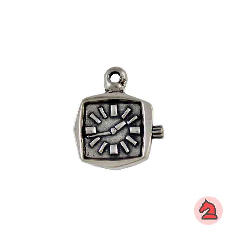 Colgante Reloj - Paquete de 10 unidades Tamaño aproximado 28 mm, anilla 3 mm