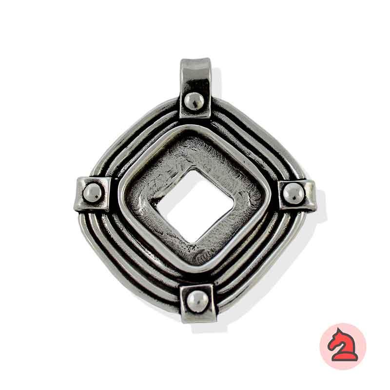 Colgante Azteca - Paquete de 10 unidadesTamaño aproximado 48 mm, anilla transversal de 6 mm