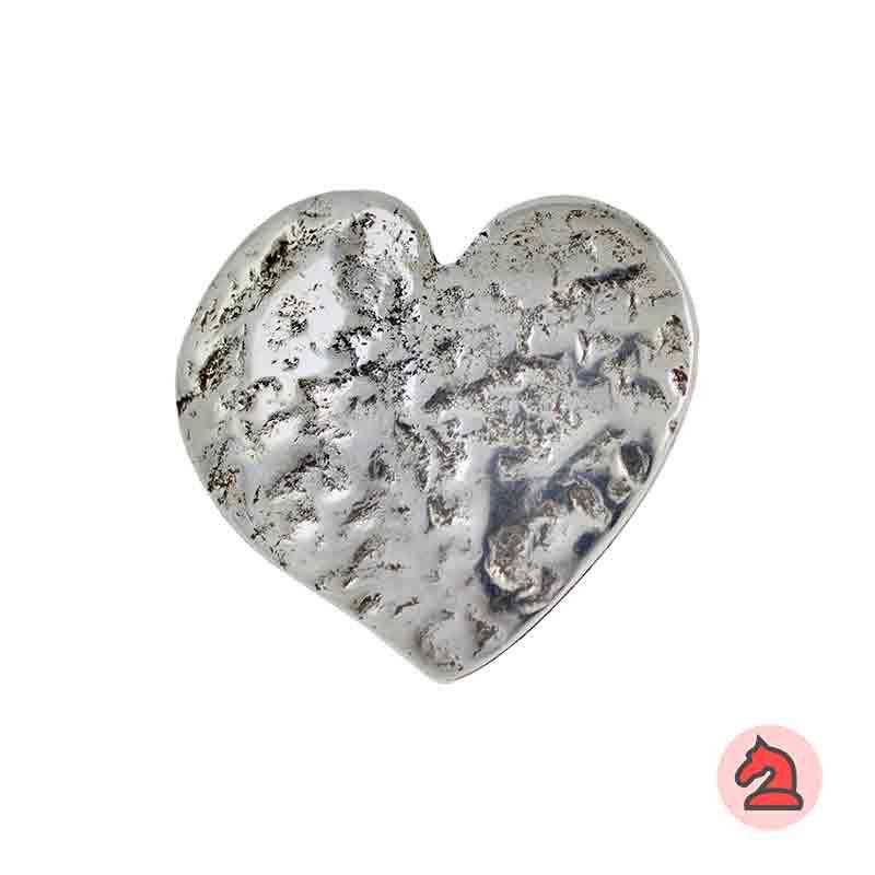 Colgante corazón martillada 51x47 mm. Anilla de 4mm - Venta en bolsa de 10 uds